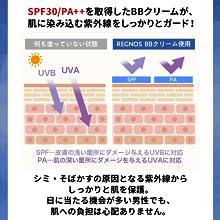 レグノスBBクリームはSPF30/PA++を取得しており、紫外線から肌をしっかりガードできる