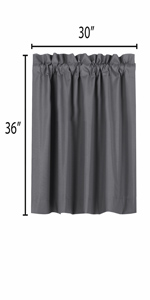 blackout curtains 36 inch