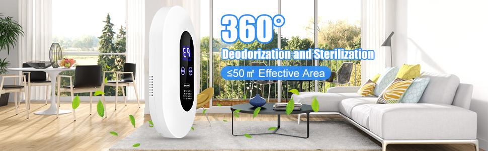 Desodorización y esterilización de 360°