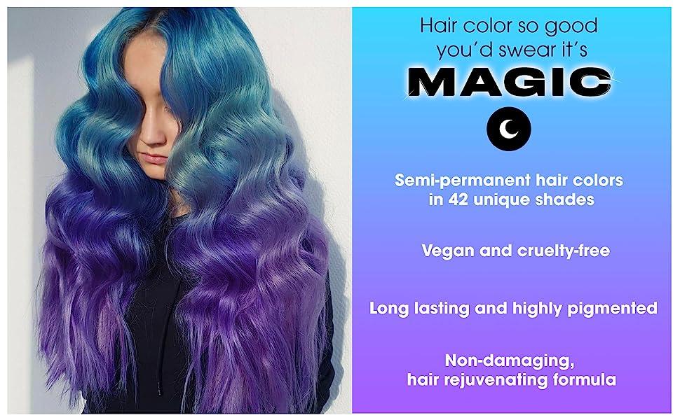 Amazon Com Lunar Tides Hair Dye Juniper Dark Forest Green Semi Permanent Vegan Hair Color 4 Fl Oz 118 Ml Beauty