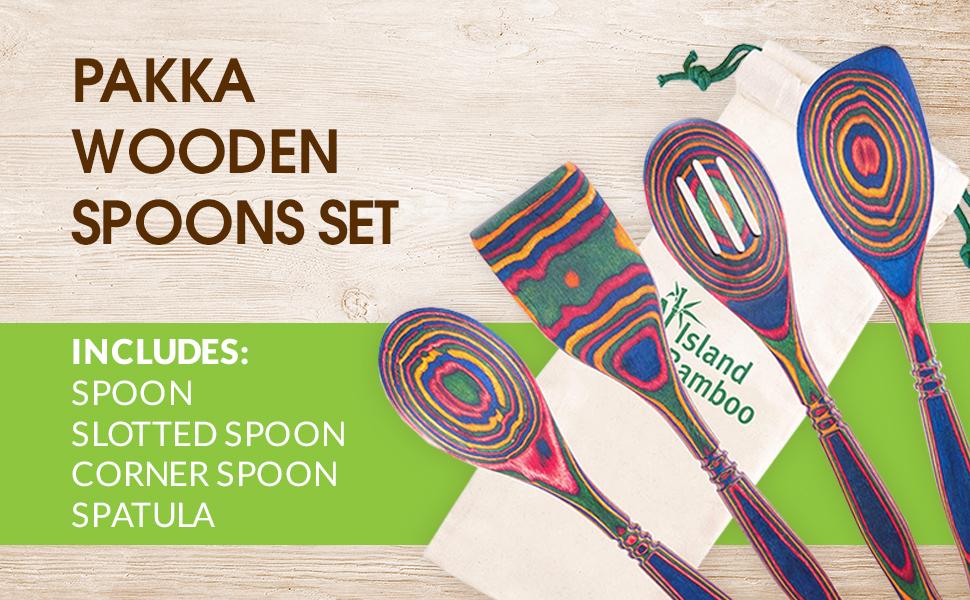 corner spatula cookware lightweight heat-resistant beautiful kitchen wood colorful spice kitchenette