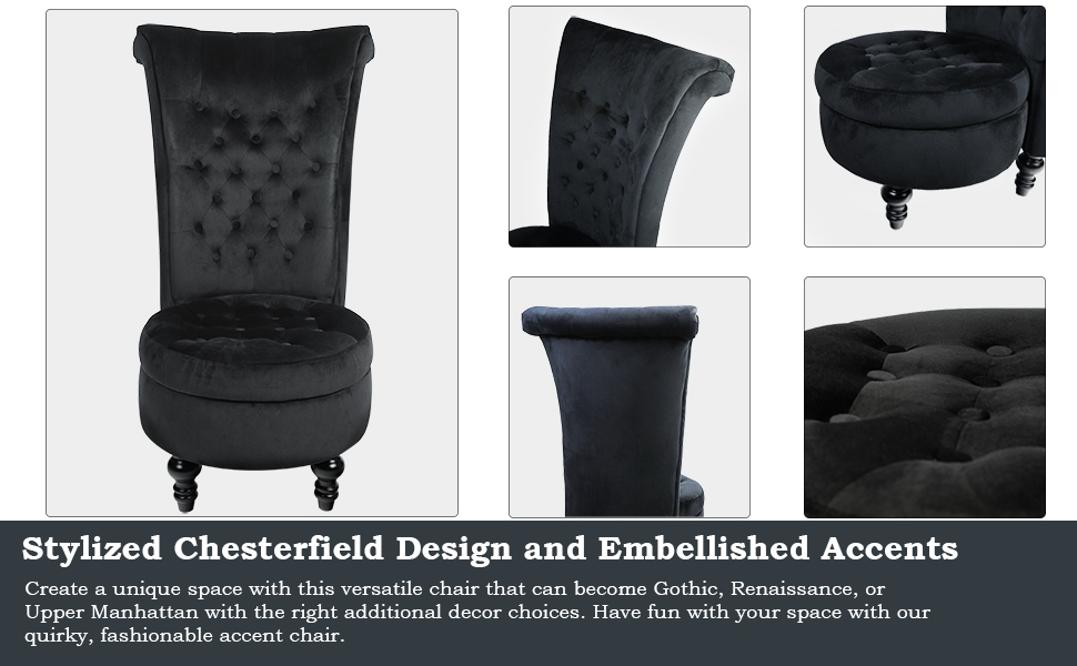 stylized chesterfield design