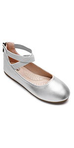 Trary Girls Flats Ankle Strap Dress Ballet Shoes