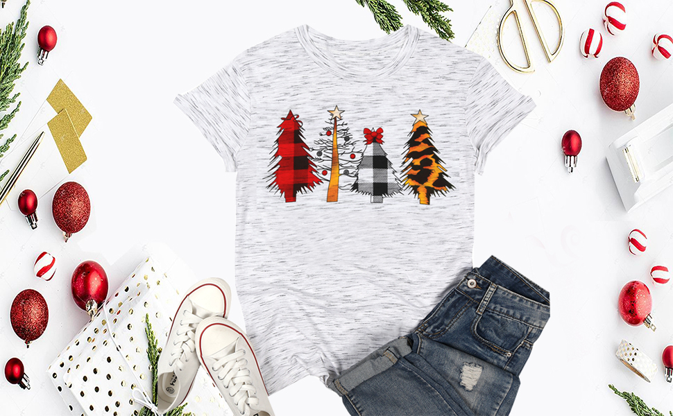 Merry Christmas leopard tree shirt