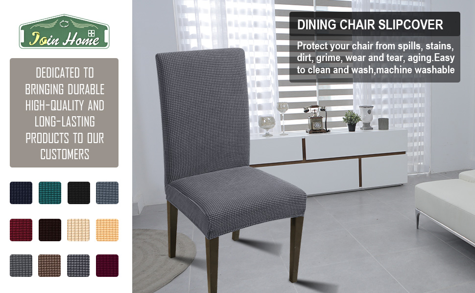 JQinHome dining chair cover fit for most of parsons chair.