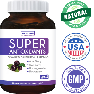 Healths Harmony - Super Antioxidants - Natural Supplement - Acai, Goji, Mangosteen, Noni, Resveratro