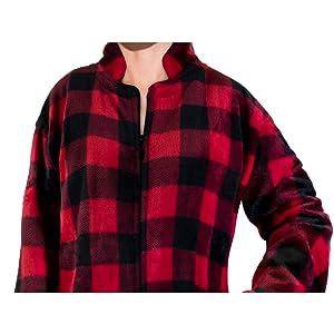 collar zipper robe