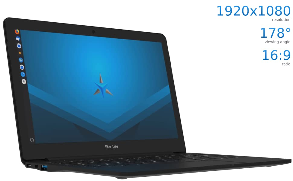 Star Lite 11-inch Hybrid Display Mini Laptop (Linux Mint 19 2