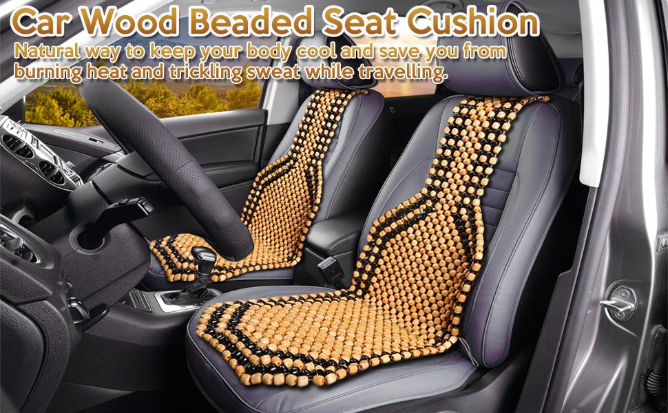 Car Wood Bead Seat Cushion