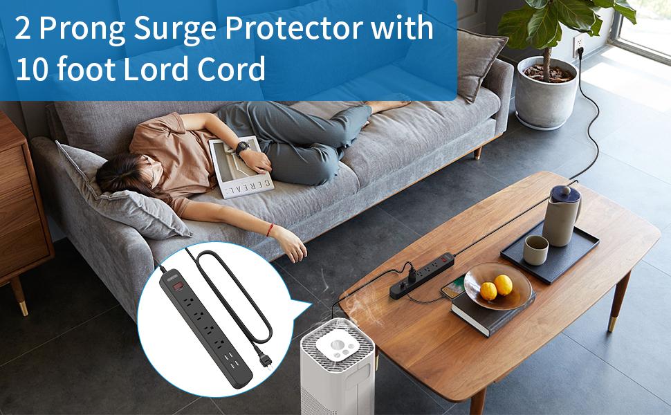 2 prong surge protector