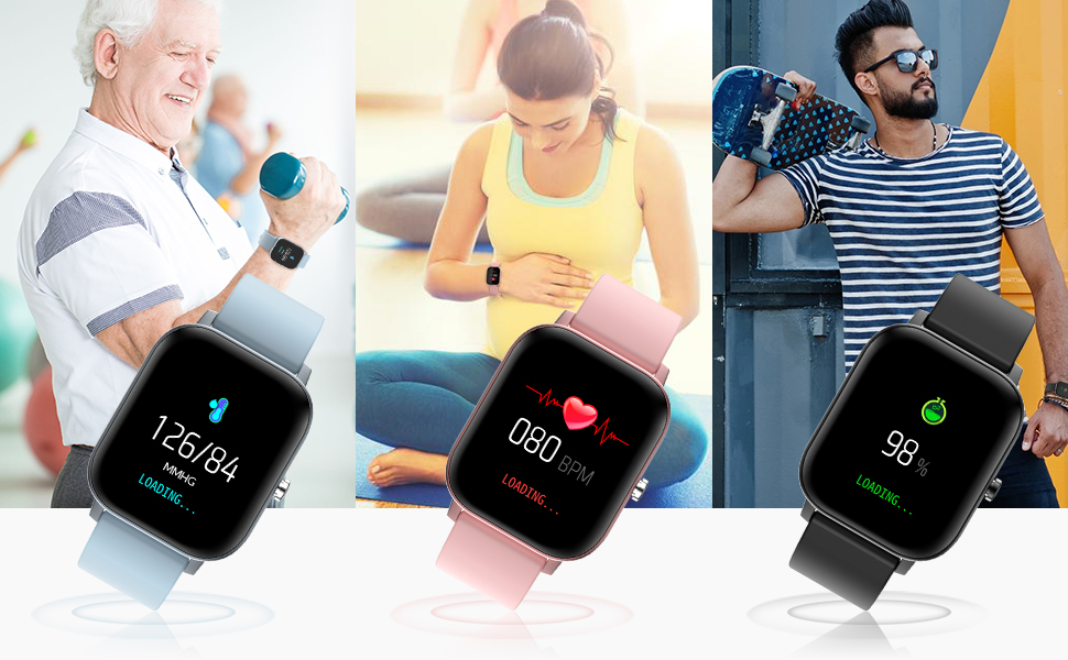 health tracker with heart rate blood oxygen monitor
