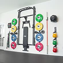 PRx Performance Weight Peg Storage Profile Squat Rack Wall Mounted Space Garage gym equipment