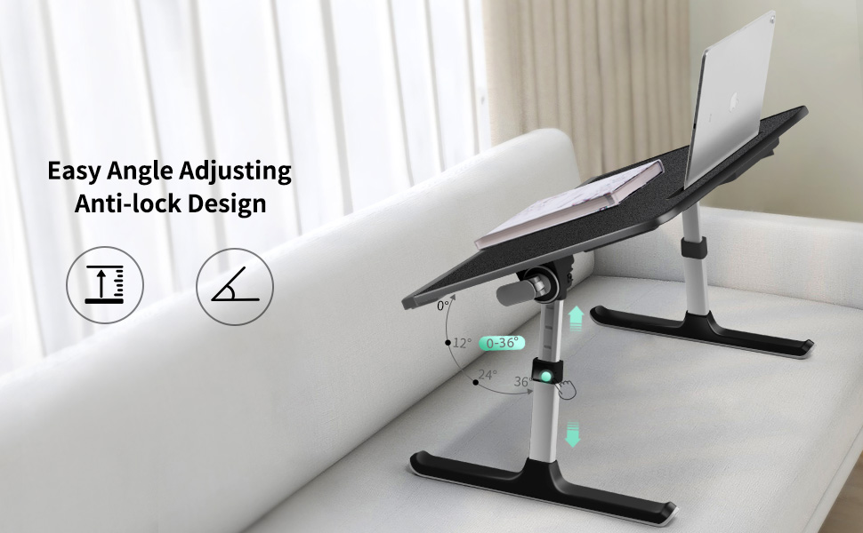 Height Adjustable and Tiltable Laptop Table
