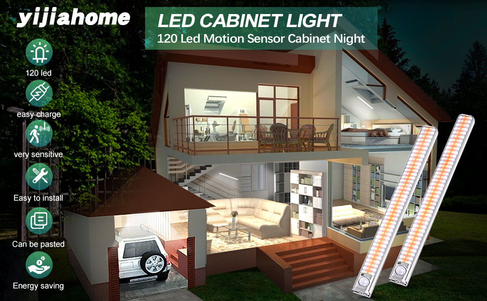 120 LED Éclairage d'armoire amélioré