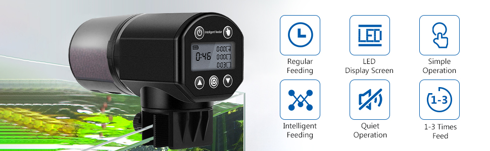 automatic fish feeder electronic fish feeder