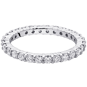 Peora Lab Grown Diamond 1 Carat Total Eternity Ring in 14K White Gold. E-F Color SI Clarity, Luxury