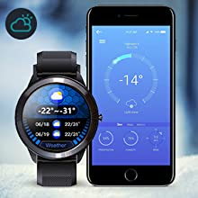 Fitness tracker with weather forecast