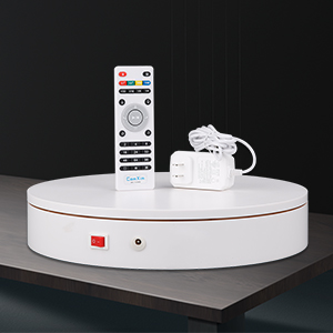 White turntable and accessories