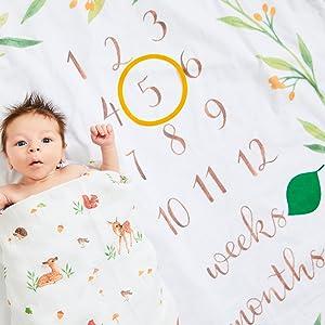 baby gifts milestone blanket
