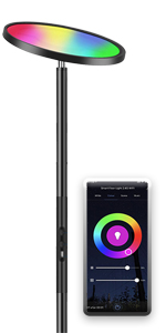 Floor lamp dimmable RGB with Alexa