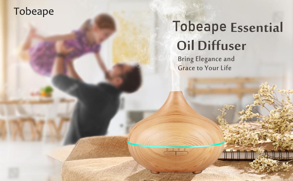 Tobeape 500ml Ultrasonic Essential Oil Diffuser