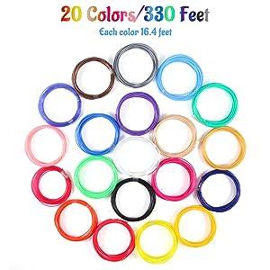 20 Colors PLA Filament