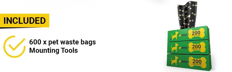 bonus 600 poopy bags for bag dispenser