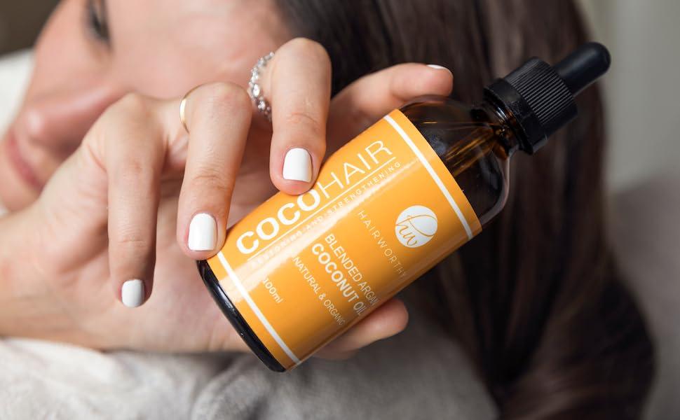 Hairworthy - Hairrepair 100% Orgánica Y Natural Con Aceite De Argán, De Coco, de Jojoba, de Almendras Y de Vitamina E Para Cabello Dañado – ...