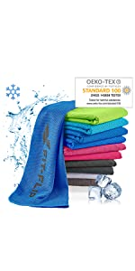 Kühlhandtuch, Fitnesshandtuch, Sporthandtuch, Golfhandtuch, Airflip towel, Ice towel