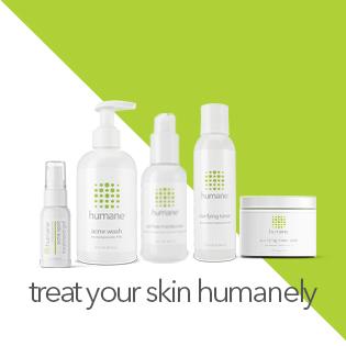 Humane Acne face body wash acne treatment benzoyl peroxide 10% toner moisturizer acne spot treatment