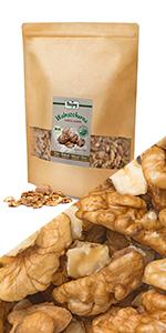 walnoten helften stukjes noten zaden omega vetten gezond hazelnoten walnotenmix amandelen ontvette