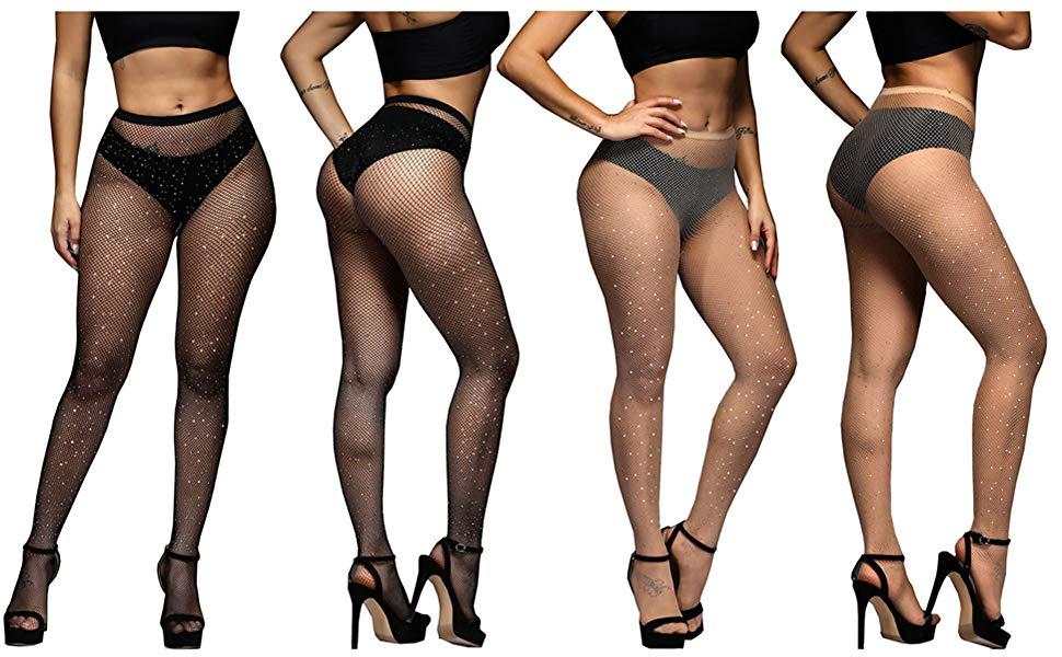 Shimmer Look 1 Pair Womens size S//M  NWT Halloween Black Sparkle Leggings