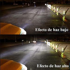 Bombilla H11 LED Coche,60W Faro Bombillas Kit - 10000LM(5000LM*2) LED CREE Chips Blanco Frío de 6500K Reemplazo Para Faros Delanteros Lámparas 9V-32V ...