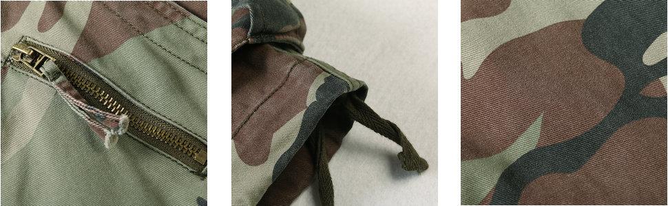 details for camo cargo shorts