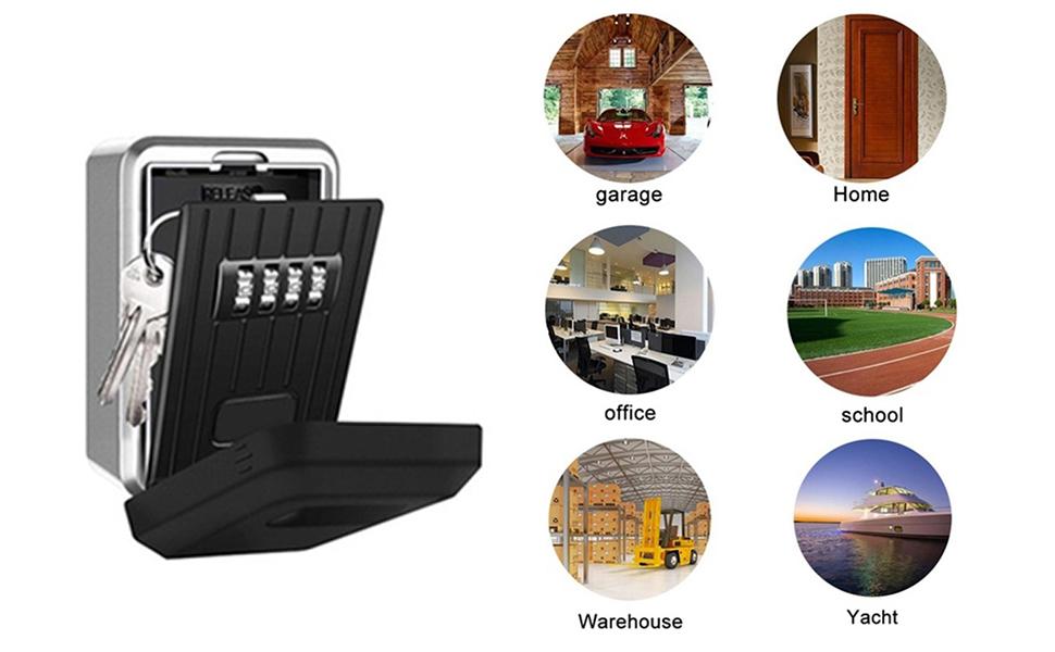 Loboo Idea Outdoor Rustproof/Waterproof Wall Mounted Key Safe Box