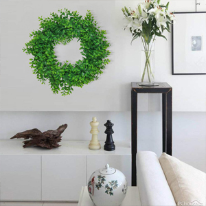farmhouse green wreath for wall home decoration