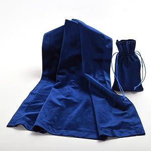 Blue Tarot Divination Table Cloth Pouch
