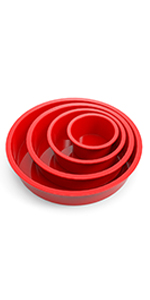 Silicone round cake pans with non stick function