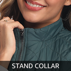 women stand collar vest