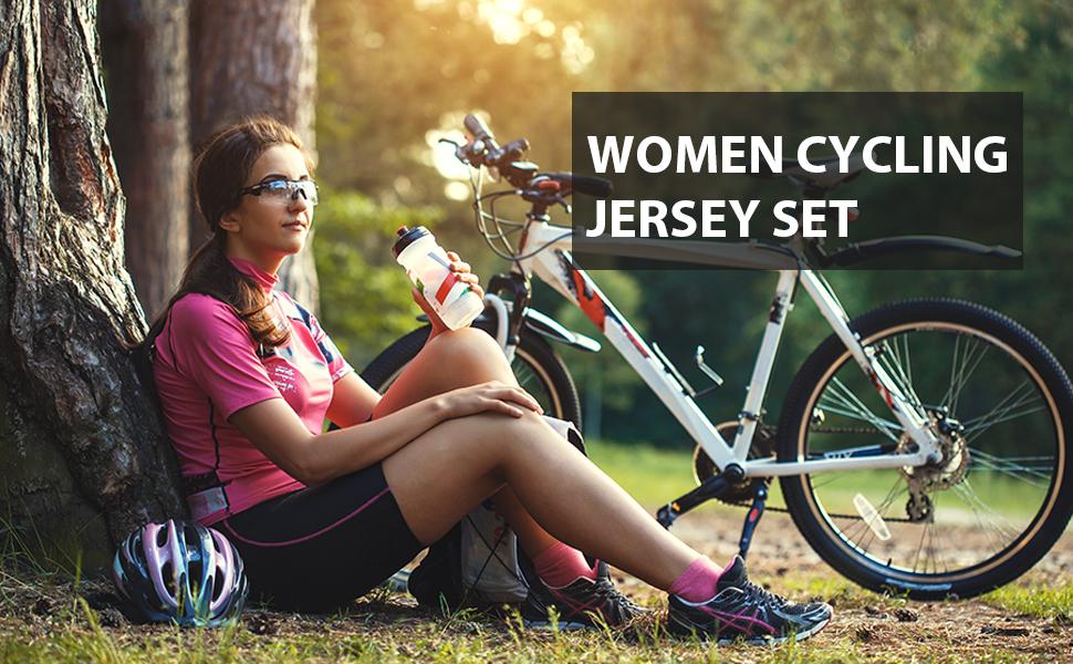 Women's Cycling Jersey Set Short Sleeve