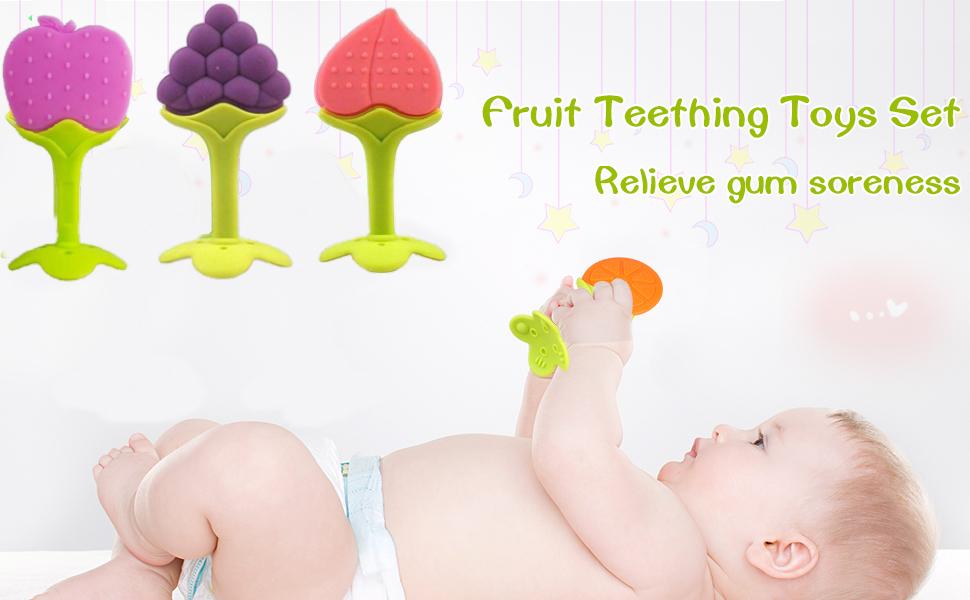 Silicone BPA Free Natural Organic Freezer Safe Teethers for Newborn