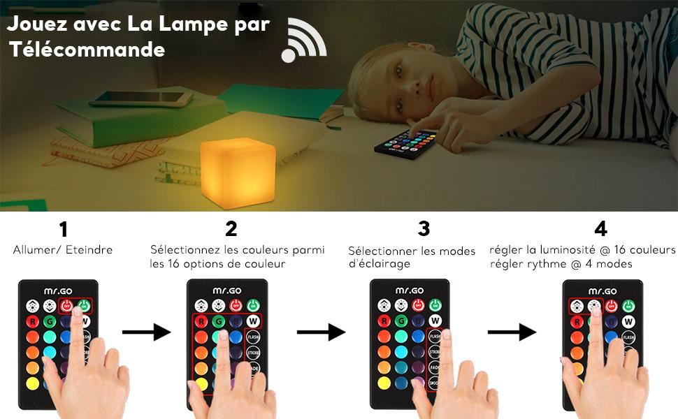 telecommande lampe