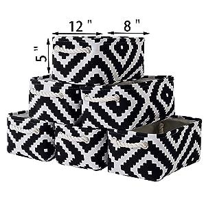 Grey Fabric Storage Baskets Size