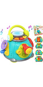 Musical Activity Cube Play Center Baby Toy