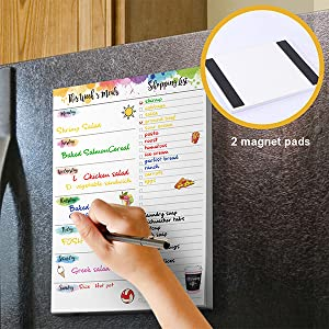 weekly meal planner shopping list grocery list