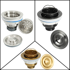 Stainless Steel Sink Basket Strainer with Drain Assembly