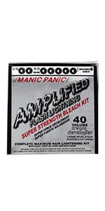 Flash Lightning Hair Bleaching Kit- 40 Volume Cream Developer