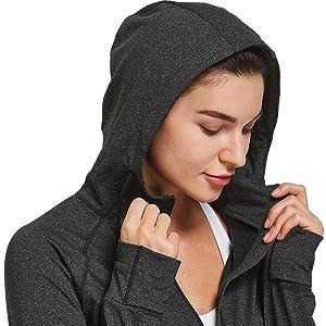 hooded running jackets women