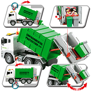 Un vero camion della spazzatura