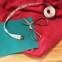embroidery scissors with cloth